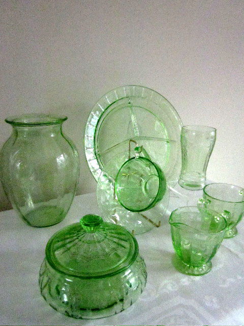 Depression Glass Pattern Of The Month Custom Green Depression Glass Patterns