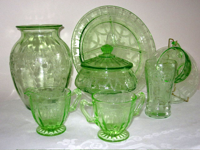 Depression Glass Pattern Of The Month Beauteous Green Depression Glass Patterns